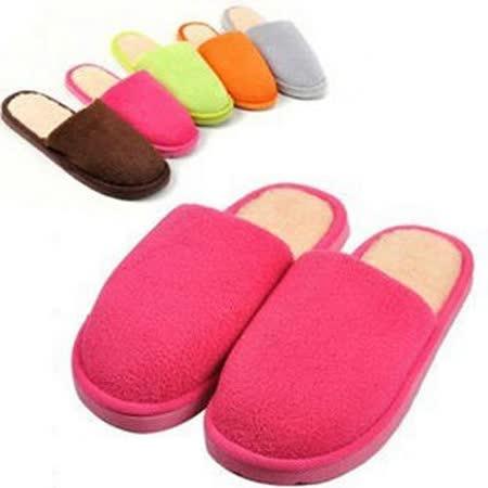 【PS Mall】買一送一 保暖珊瑚絨純色冬季棉拖鞋 防滑拖鞋 (J1631)