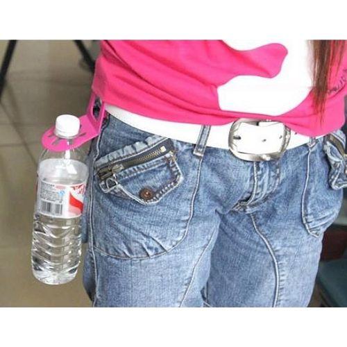 ~PS Mall~ 可攜式萬用飲料夾 寶特瓶褲腰夾 卡夾_2個 ^(J1716^)