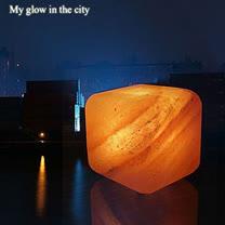 【Naluxe】義大利設計水晶鹽燈-方糖