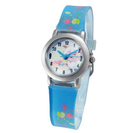 喜羊羊俏皮動作鐵殼藍色膠帶錶