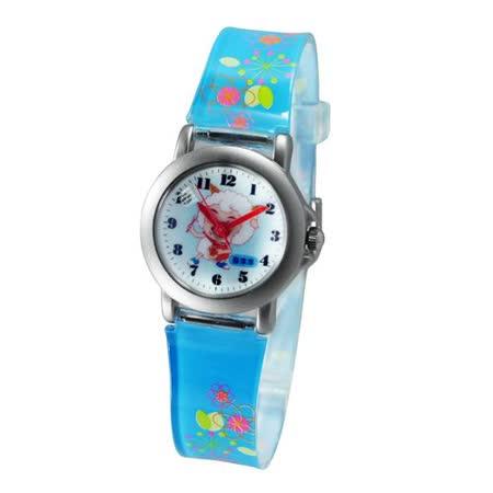 喜羊羊遊樂動作鐵殼藍色膠帶錶