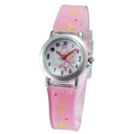 美羊羊優雅動作鐵殼粉紅色膠帶錶