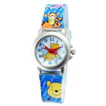 Pooh經典小熊鐵殼藍色膠帶錶