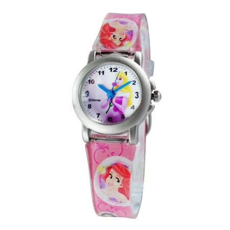 Disney公主系列仙度瑞拉鐵殼粉紅色膠帶錶