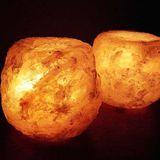【Naluxe】義大利設計水晶鹽燈-花好月圓(1對2入)
