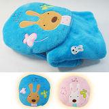 兔寶寶抱毯