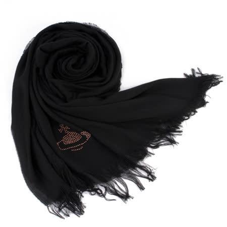 【好物推薦】gohappy快樂購物網Vivienne Westwood 新款釘珠行星LOGO絲質圍巾-黑色好用嗎sogo 天母 美食