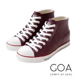 GOA街頭時尚.男款內增高帆布款橡膠雨鞋-紫