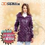 【山力士 SAMLIX】女羽絨外套.保暖外套.羽絨衣.風衣.雪衣 / 保暖.輕便.透氣.時尚有型.氣質風格 / 33012 紫