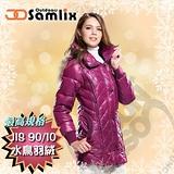 【山力士 SAMLIX】女羽絨外套.保暖外套.羽絨衣.風衣.雪衣 / 保暖.輕便.透氣.時尚有型.氣質風格 / 33012 桃紅