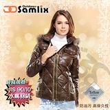 【山力士 SAMLIX】女羽絨外套.保暖外套.羽絨衣.風衣.雪衣 / 防水透濕.防油污.耐久.時尚有型.氣質風格 / 37812 咖啡