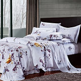 《KOSNEY 花卉風華 》加大100%天絲TENCELTENCEL八件式兩用被床罩組