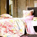 《KOSNEY 美麗花園》加大100%天絲TENCELTENCEL八件式兩用被床罩組