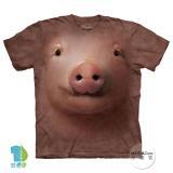 『摩達客』美國進口【The Mountain】自然純棉系列 可愛豬臉設計T恤 (預購)