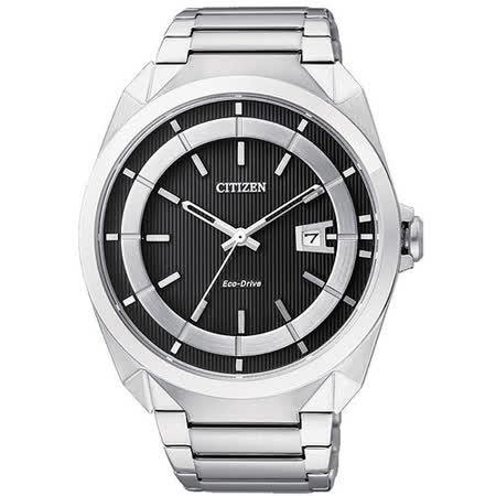 CITIZEN Eco-Drive 時尚紳士風腕錶 AW1010-57E
