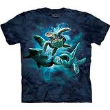『摩達客』美國進口【The Mountain】自然純棉系列 海龜群設計T恤 (預購)