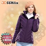 【山力士 SAMLIX】女羽絨外套.保暖外套.羽絨衣.風衣.雪衣 / 保暖.輕便.透氣.時尚有型.氣質風格 / 37912 黑