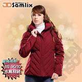 【山力士 SAMLIX】女羽絨外套.保暖外套.羽絨衣.風衣.雪衣 / 保暖.輕便.透氣.時尚有型.氣質風格 / 37912 紅