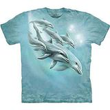 『摩達客』美國進口【The Mountain】自然純棉系列 海豚潛水 設計T恤 (預購)