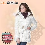 【山力士 SAMLIX】女羽絨外套.保暖外套.羽絨衣.風衣.雪衣 / 保暖.輕便.透氣.時尚有型.氣質風格 / 317 白