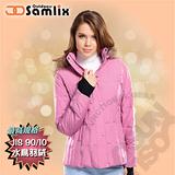 【山力士 SAMLIX】女羽絨外套.保暖外套.羽絨衣.風衣.雪衣 / 保暖.輕便.透氣.時尚有型.氣質風格 / 326 粉紅