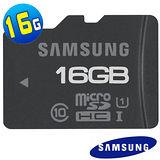 Samsung三星 microSDXC Class10 16GB 高速記憶卡(讀70M寫20M)-加送TF讀卡機