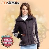 【山力士 SAMLIX】女羽絨外套.保暖外套.羽絨衣.風衣.雪衣 / 保暖.輕便.透氣.時尚有型.氣質風格 / 38812 黑