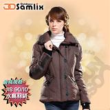 【山力士 SAMLIX】女羽絨外套.保暖外套.羽絨衣.風衣.雪衣 / 保暖.輕便.透氣.時尚有型.氣質風格 / 38812 咖啡