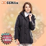 【山力士 SAMLIX】女羽絨外套.保暖外套.羽絨衣.風衣.雪衣 / 保暖.輕便.透氣.時尚有型.氣質風格 / 36311 黑