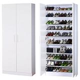 BuyJM 經典鏡面加寬型高雙門鞋櫃(二色)