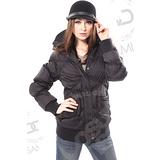 【山力士 SAMLIX-加碼送】女 中長版羽絨大衣.羽絨外套.保暖外套.連帽外套.雪衣.中長版外套.防潑水.羽毛衣.修飾身型.時尚造型 # 337黑