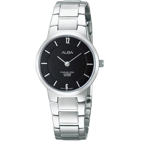 ALBA PRESTIGE 超薄美學時尚腕錶-黑 VX50-X288D