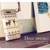【Happymori】※Deer Sweater※ 側開手機皮套 適用Galaxy Note2 N7100