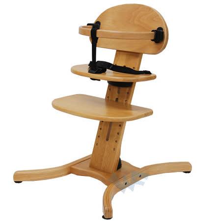 【MIT台灣童車】木製嬰兒餐椅(原木/橙色)