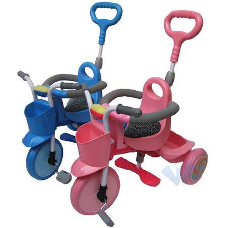 【MIT台灣童車】神騎寶貝三輪車(藍/粉紅)
