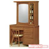 Margaret 古韻典雅3.5尺實木化妝台椅組