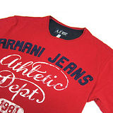 A│J ARMANI JEANS ATHLETIC DEPT 1981 圓領短袖男T(紅)