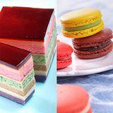 【老耿】冰晶千層彩虹布丁蛋糕+馬卡龍2入+手工餅乾