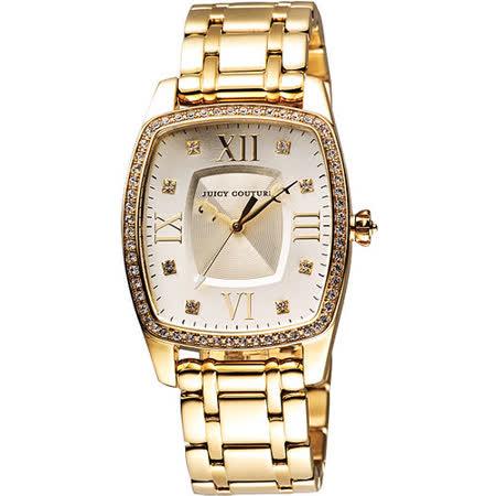 Juicy Couture Beau 甜‧祕密晶鑽腕錶-金 J1900974