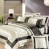 《KOSNEY 時尚空間》加大頂級絲緞精梳棉八件式舖棉床罩組