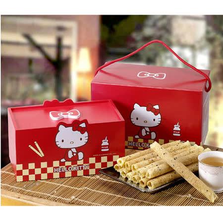 Hello Kitty芝麻蛋捲 經典木盒禮盒組(K013)