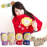 奶油獅 正版授權-台灣製造-舒適輕柔造型毯(1入)-紅(可當發熱暖手枕)