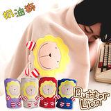 奶油獅 居家必備-台灣製造-舒適輕柔造型毯(1入)-米