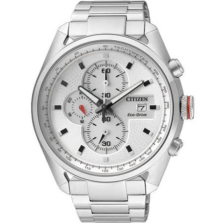 CITIZEN Eco-Drive 先鋒部隊計時腕錶-銀 CA0360-58A