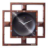 星空銀河天際造型原木藝術鐘