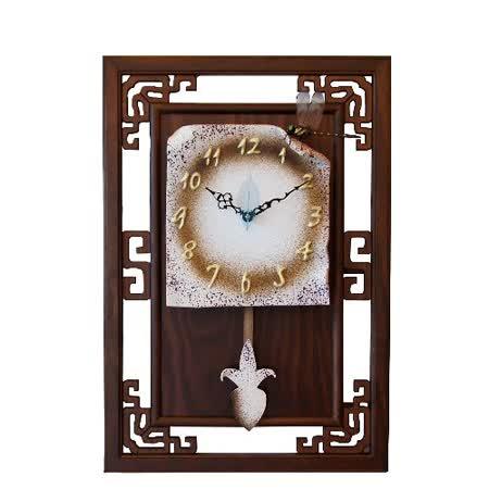 古典田園風蜻蜓陶板藝術鐘