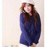 【ceres席瑞絲】紫羅蘭珠飾假兩件式針織毛衣