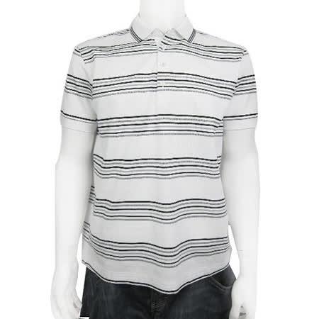 HUGO BOSS 黑標黑灰線POLO男衫(白)