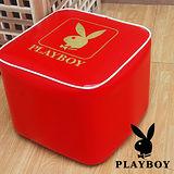PLAY BOY 流行時尚四方造型椅-貴族紅