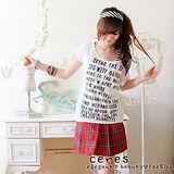 【ceres席瑞絲】英文滿版真兩件式上衣/二色